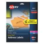 Avery Glossy Clear Easy Peel Mailing Labels, 1 x 2 5/8, 300 Labels (AVE6521)