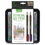 crayola-detailing-gel-pens-medium-point-assorted-ink-20-pens-cyo586503