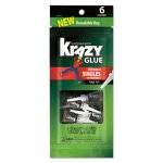 Krazy Glue All-Purpose Single-Use Tubes, 0.017 oz, Clear, 6 Tubes (EPI2027153)