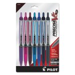 Pilot Precise V5RT Retractable Ball Pen, 0.5 mm, Ast. Ink, 7 Pens (PIL26095)