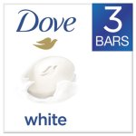 Dove White Beauty Bar, Light Scent, 3.17 oz, 3/Pack (UNI04090PK)