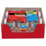 Scotch 3850 Heavy Duty Packaging Tape Sure Start Dispenser, 6 Rolls (MMM1426)