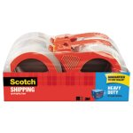 Scotch 3850 Heavy Duty Packaging Tape, Clear, 4 per Pack (MMM38504RD)