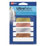 Avery Ultra Repositionable Tabs, 2.5 x 1, Asst. Metallic, 24 Tabs (AVE74786)