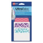Avery Ultra Repositionable Tabs, 2 x 1.5, Asst. Patterns, 24 Tabs (AVE74801)