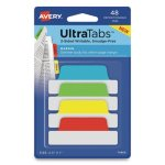 Avery Ultra Repositionable Tabs, 2.5 x 1, Asst. Primary, 48 Tabs (AVE74866)