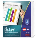 Avery Index Maker Clear Label Pocket Dividers, Letter, 8 Tabs (AVE75501)