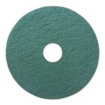 "Boardwalk 17"" Diameter Heavy-Duty Scrubbing Floor Pads, Green (BWK4017GRE)"