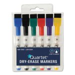 Quartet Low-Odor ReWritables Dry Erase Mini-Markers, Fine Tip, Assorted, 6/Set (QRT51659312)