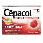 Cepacol Maximum Strength Numbing Lozenge, Cherry, 16/Box (RAC71016)