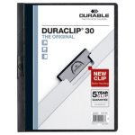Durable Vinyl DuraClip Report Cover, Letter, Clear/Black, 25 Covers (DBL220301)