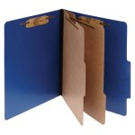 Acco Color Classification Folders, 6-Section, Blue, 10 per Box (ACC15663)