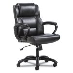 Sadie Mid-Back Executive Office Chair, Black Leather (BSXVST305)
