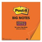 Post-it Notes Super Sticky Big Notes, 11 x 11, Orange, 30 Sheets/Pad (MMMBN11O)