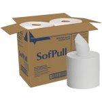 SofPull 28143 White Center-Pull Paper Towel Rolls, 4 Rolls (GPC28143)