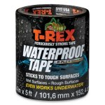 "T-rex Waterproof Tape, 4"" x 5 ft, 3"" Core, Glossy Black (DUC285987)"