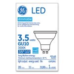 Ge LED MR16 GU10 Dimmable Warm White Flood Light, 3000K, 3.7W (GEL37114)