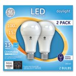 Ge LED Daylight A21 Dimmable Light Bulb, 15W, 2/Pack (GEL66133)