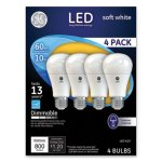 Ge LED Soft White A19 Dimmable Light Bulb, 10W, 4/Pack (GEL67615)