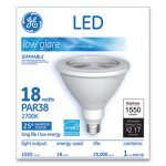 Ge LED PAR38 Dimmable 25 Dg Soft White Flood Light Bulb, 18W (GEL92950)
