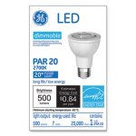 Ge LED PAR20 Dimmable Warm White Flood Light Bulb, 2700K, 7W (GEL93360)