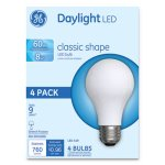 Ge Classic LED Daylight Non-Dim A19 Light Bulb, 8W, 4/Pack (GEL99192)