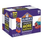 Elmer's Extra-Strength Glue Stick, 0.21 oz, Purple/Clear, 30 Sticks (EPI2044283)