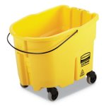 Rubbermaid WaveBrake 35 Quart Bucket, Yellow, Each (RCPFG757088YEL)