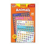 Trend SuperSpots and SuperShapes Animal Sticker Pack, 2500 Stickers (TEPT46904)