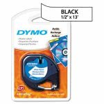 Dymo LetraTag Plastic Label Tape Cassette, 1/2in x 13ft, White (DYM91331)