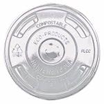 Eco-products Compostable Drink Cup Lids, Clear, 1000 per Carton (ECOEPFLCC)