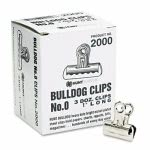 "X-acto Bulldog Clips, Steel, 5/16"" Capacity, 1"" Wide, 36 Clips (EPI2000LMR)"