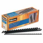 fellowes-plastic-comb-bindings-14-diameter-20-sheet-capacity-black-100-combspack-fel52366