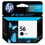 HP 56, (C6656AN) Black Original Ink Cartridge, 1 Each (HEWC6656AN)
