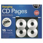 find-it-hanging-cd-dvd-pages-black-clear-15-pages-ideft07069