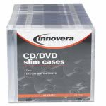 innovera-cddvd-polystyrene-thin-line-storage-case-clear-100pack-ivr85800