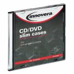 innovera-cddvd-polystyrene-thin-line-storage-case-clear-50pack-ivr85826