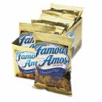 Kelloggs Famous Amos Cookies, Chocolate Chip, 2oz Snack Pack, 8 Packs (KEB98067)