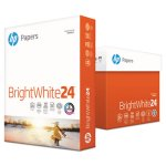 HP Brightwhite24 Paper, 97 Bright, 24lb, 8-1/2 x 11, 500 Sheets (HEW203000)