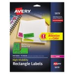 Avery High-Visibility  Neon Laser Labels, 1 x 2-5/8, 450 Laser Labels  (AVE5979)