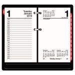 At-A-Glance Desk Calendar Refill with Tabs, 3 1/2 x 6, White, 2021 (AAGE717T50)