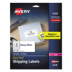 Avery Glossy White Easy Peel Mailing Labels, 2 x 4, 250 Labels (AVE6528)