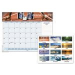 At-A-Glance Motivational Panoramic Desk Pad, 22 x 17, 2021 (AAG89801)