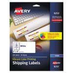 Avery Inkjet Labels for Color Printing, 2 x 4, Matte White, 200/Pack (AVE8253)