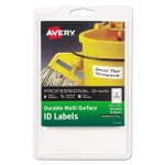 Avery 61522 Durable Multi-Surface ID Labels, 1-1/4 x 3-1/2, 40 Labels (AVE61522)