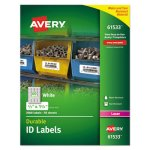 Avery 61533 Durable ID Labels, 2/3  x 1-3/4, 3000 Labels per Pack (AVE61533)