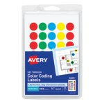 Avery See-Through Removable Color Dots, Assorted Colors, 1015 Dots (AVE05473)