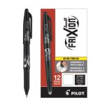 Pilot FriXion Ball Erasable Gel Pen; Black Ink; 0.7mm Fine, Dozen (PIL31550)