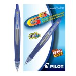Pilot G6 Gel Roller Retractable Ball Pen, Blue Ink, Fine, 12 Pens (PIL31402)
