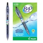 Pilot BeGreen B2P Bottle Gel Rolling Ball Pens, Black Ink, 12 Pens (PIL31600)